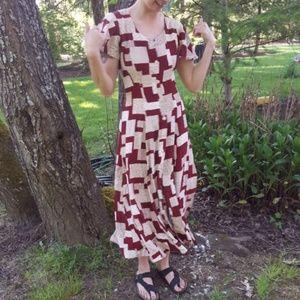 Vintage midi summer dress